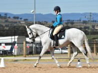 The State Dressage Championships saw Jemma Wood from Toronto Pony Club place 8th overall in the Associate age group events. Photo: Julie Wilson